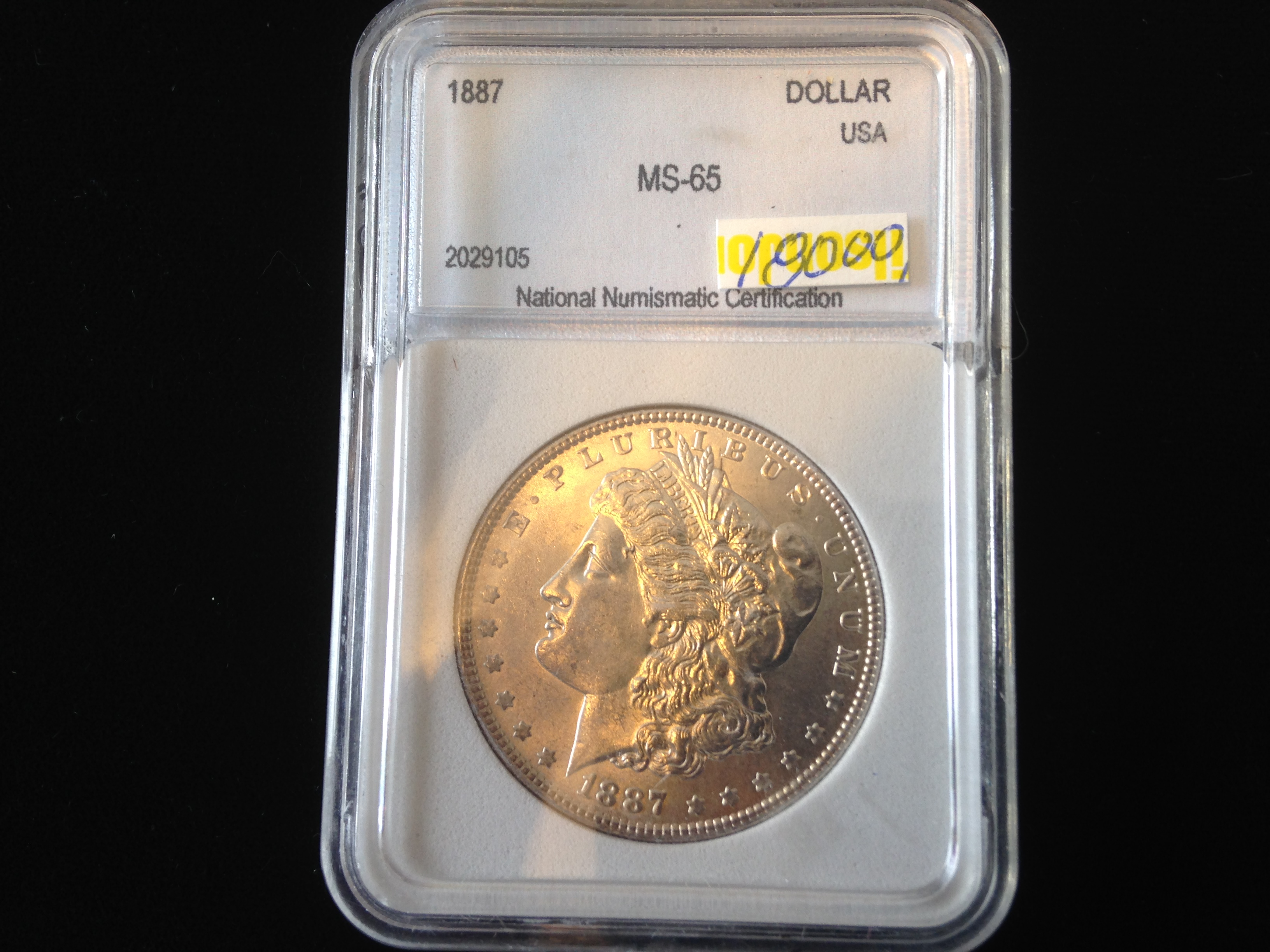1887 Nnc Slabed Ms 65 Morgan Dollar Wyoming Rare Coin Gallery